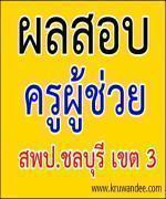 ประกาศผลสอบบรรจุครูผู้ช่วย 2555 สพป.ชลบุรี เขต 3