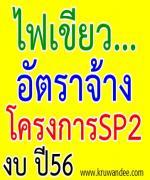 สัญญาณไฟเขียว สำหรับอัตราจ้างตามโครงการ SP2(เดิม)