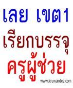 สพป.เลย เขต 1 สรุปบัญชีการเรียกบรรจุครู ปี 2555