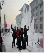 เยาวชนไทยคว้าแชมป์ แกะสลักน้ำแข็งที่ฮาร์บิ้น