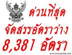 ด่วนที่สุด ที่ ศธ 04009/ว5046 จัดสรรอัตราข้าราชการครูฯ ที่ว่างจากการเกษียณฯ เมื่อสิ้นปีงบประมาณ พ.ศ. 2555