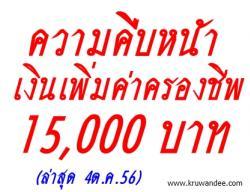 ข่าวล่าสุด! เงินเพิ่มค่าครองชีพ 15,000 บาท ลูกจ้าง สพฐ. (อัพเดท 4 ตุลาคม 2556)