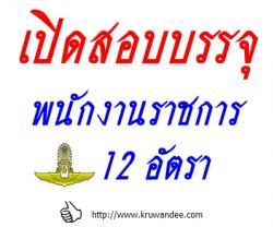 กองทัพอากาศ เปิดสอบบรรจุพนักงานราชการ จำนวน 12 อัตรา รับสมัคร 23 - 29 พฤศจิกายน 2556