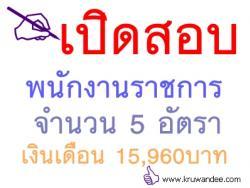 เปิดสอบพนักงานราชการ 5 อัตรา เงินเดือน 15,960 บาท - รับสมัคร 21 - 27 พ.ย. 2556