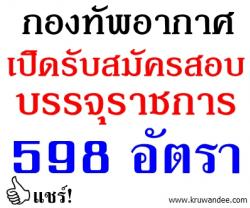 กองทัพอากาศ เปิดสอบบรรจุรับราชการ 598 อัตรา - รับสมัคร 15 มกราคม - 5 มีนาคม 2557