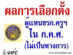 ผลการเลือกตั้งกรรมการผู้แทนข้าราชการครูฯ ใน ก.ค.ศ. (ไม่เป็นทางการ) ในวันที่ 27 ก.พ.2557