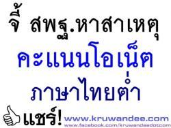 จี้ สพฐ.หาสาเหตุคะแนนโอเน็ตภาษาไทยต่ำ