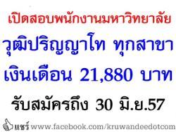 เปิดสอบ วุฒิปริญญาโท ทุกสาขา เงินเดือน 21,880 พนักงานมหาวิทยาลัย ตำแหน่งนักศึกษาปฏิบัติการ - รับสมัครถึง 30 มิถุนายน พ.ศ. 2557