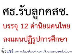 ศธ.รับลูกคสช.บรรจุ 12 ค่านิยมคนไทยลงแผนปฏิรูปการศึกษา