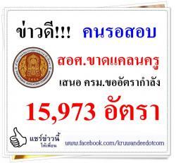 ข่าวเปิดสอบครูอาชีวะ - สอศ.ขาดแคลนครูหนัก ขอ 15,973 อัตรา