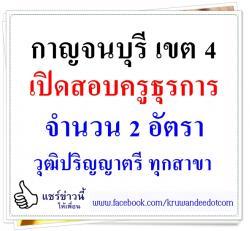สพป.กาญจนบุรี เขต 4 รับสมัครครูธุรการ 2 อัตรา สมัคร 6-12  ธ.ค.57