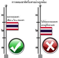 การลดธงครึ่งเสาอย่างถูกวิธี