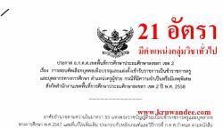 สพป.สงขลา เขต 2 เปิดสอบครูผู้ช่วย กรณีพิเศษ ปี58 จำนวน 21 อัตรา 8 กลุ่มวิชาเอก - รับสมัคร 16-22 กุมภาพันธ์ 2558