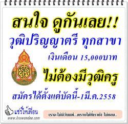 โรงเรียนราชประชานุเคราะห์ ๕๑ จังหวัดบุรีรัมย์ เปิดรับสมัครเจ้าหน้าที่งานธุรการ ตั้งแต่บัดนี้-วันที่ 1 มีนาคม 2558
