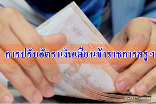 สพป.แจ้งการปรับอัตราเงินเดือนข้าราชการครูฯ