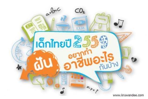 ผลสำรวจอาชีพในฝันเด็กไทยปี 59 แพทย์ครองแชมป์ 7 ปีซ้อน