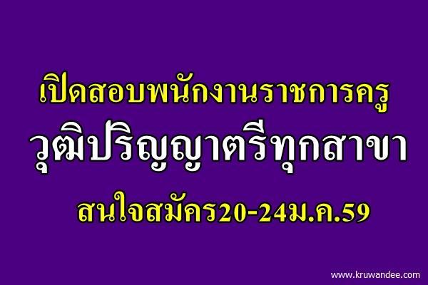 โรงเรียนบ้านนาฮ่อง เปิดสอบพนักงานราชการครู วุฒิปริญญาตรีทุกสาขา (ทางการศึกษา) สมัคร20-24ม.ค.59