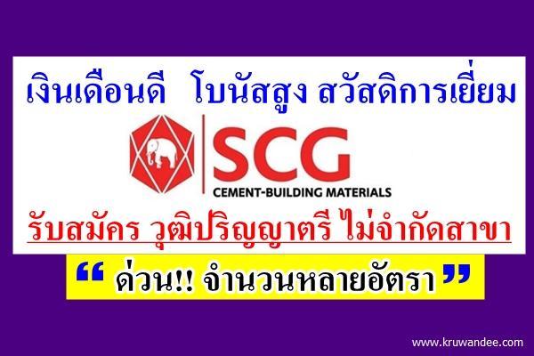 รับสมัครด่วน!!! จำนวนหลายอัตรา SCG Cement-Building Materials รับวุฒิปริญญาตรี ไม่จำกัดสาขา