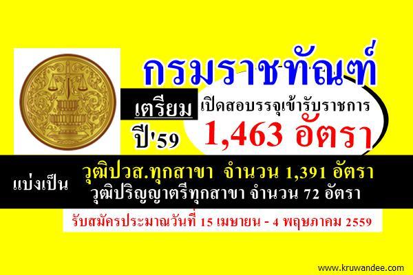 อ่านหนังสือรอเลย! กรมราชทัณฑ์เตรียมเปิดรับสมัครสอบเข้ารับราชการ จำนวน 1,463 อัตรา