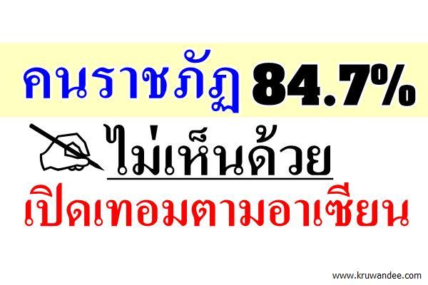 คนราชภัฏ84.7%ไม่เห็นด้วยเปิดเทอมตามอาเซียน