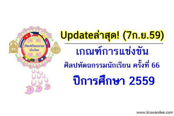 Updateล่าสุด! (7ก.ย.59) เกณฑ์การแข่งขัน ศิลปหัตถกรรมนักเรียน ครั้งที่ 66 ปีการศึกษา 2559