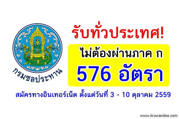รับทั่วประเทศ! ไม่ต้องผ่านภาค ก 576 อัตรา กรมชลประทาน เปิดสอบพนักงานราชการ