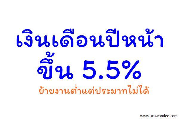 เงินเดือนปีหน้าขึ้น 5.5% ย้ายงานต่ำแต่ประมาทไม่ได้