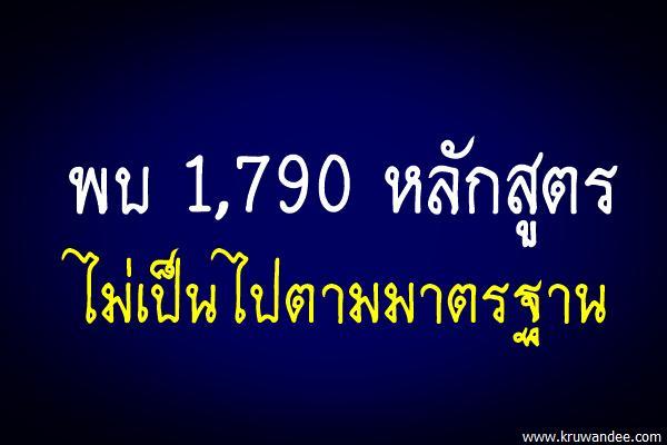 ตะลึงอุดมศึกษาไทยมี1.7พันหลักสูตรเถื่อน