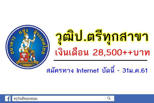 ธนาคารแห่งประเทศไทย เปิดรับสมัครพนักงาน วุฒิป.ตรีทุกสาขา(เงินเดือน28,500++บาท)