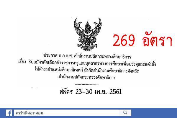 สำนักงานปลัดกระทรวงศึกษาธิการ เปิดรับสมัครคัดเลือกเพื่อบรรจุฯ ศึกษานิเทศก์ ศธจ. (สมัคร23-30เม.ย.61)