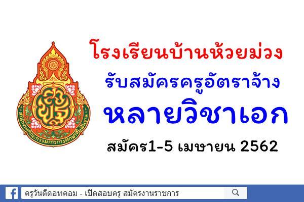 โรงเรียนบ้านห้วยม่วง รับสมัครครูอัตราจ้าง หลายวิชาเอก สมัคร1-5 เมษายน 2562
