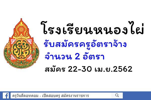 โรงเรียนหนองไผ่ รับสมัครครูอัตราจ้าง วิชาคอมพิวเตอร์ 2 อัตรา สมัคร 22-30 เม.ย.2562
