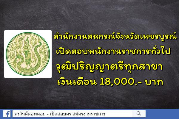 จังหวัดเพชรบูรณ์ เปิดสอบพนักงานราชการทั่วไป วุฒิปริญญาตรีทุกสาขา สมัคร 22-28 พ.ค.2562