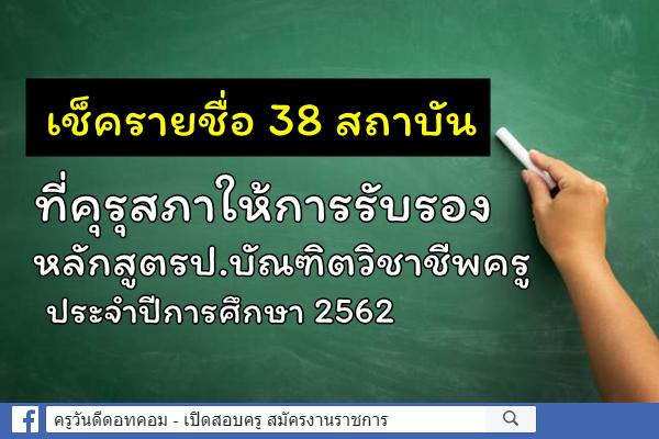 คุรุสภาให้การรับรองเพิ่มเติม หลักสูตรป.บัณฑิตวิชาชีพครู ปีการศึกษา 2562 อีก 9 แห่ง 9 หลักสูตร