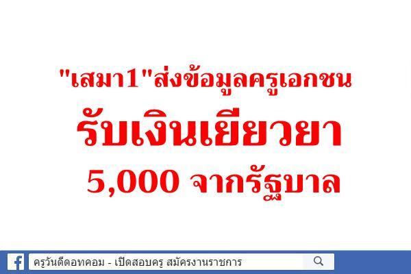 """""""เสมา1""""ส่งข้อมูลครูเอกชนรับเงินเยียวยา 5,000 จากรัฐบาล"""