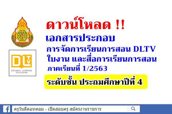 ดาวน์โหลดใบงาน สื่อการสอน DLTV ชั้นประถมศึกษาปีที่ 4 ภาคเรียนที่ 1/2563