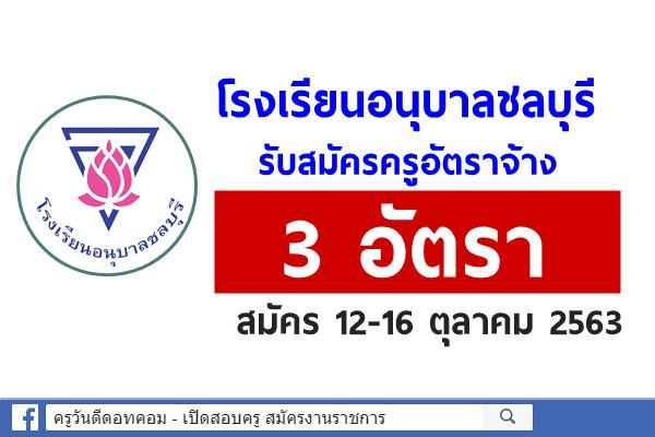 โรงเรียนอนุบาลชลบุรี รับสมัครครูอัตราจ้าง 3 อัตรา สมัคร 12-16 ตุลาคม 2563