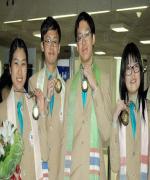ฮีโร่คว้าเหรียญทองและเงิน ชีวะโอลิมปิค กลับถึงไทยแล้ว