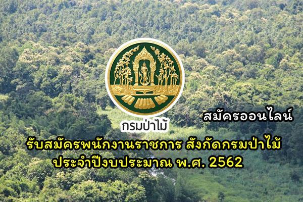 กรมป่าไม้ รับสมัครพนักงานราชการ สังกัดกรมป่าไม้ ประจำปีงบประมาณ พ.ศ. 2562