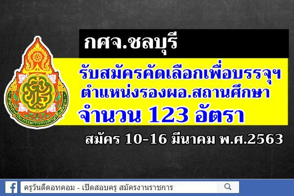 กศจ.ชลบุรี รับสมัครคัดเลือกฯ รองผอ.สถานศึกษา จำนวน 123 อัตรา สมัคร 10-16 มี.ค.2563